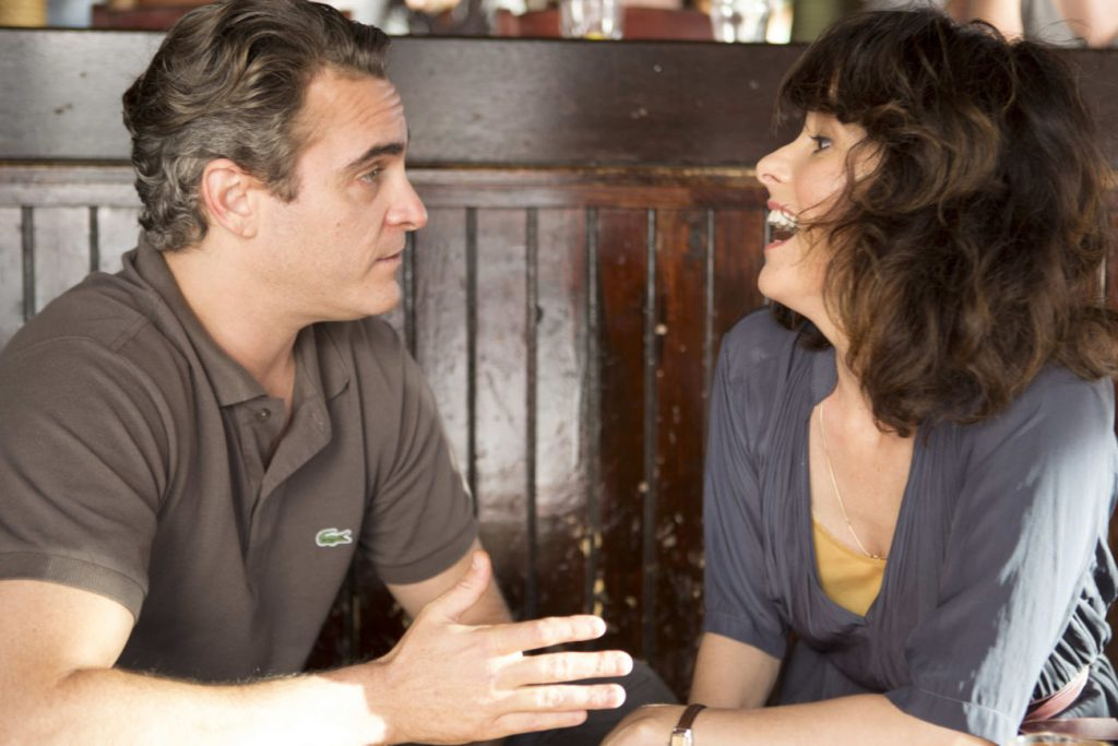 IRRATIONAL MAN - 2015 FILM STILL - Pictured: Joaquin Phoenix as Abe and Parker Posey as Rita - Photo Credit: Sabrina Lantos   © 2015 Gravier Productions, Inc., Courtesy of Sony Pictures Classics