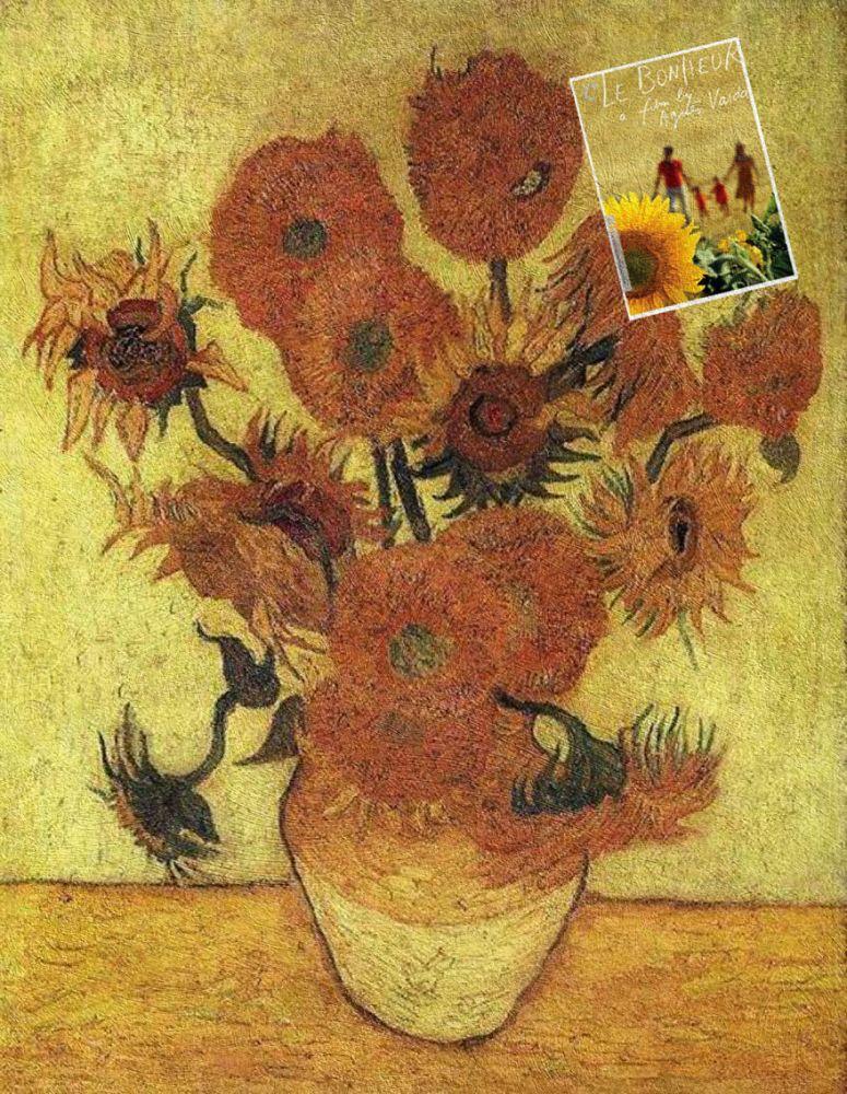 """""""Le Bonheur"""" Agnes Varda ve """"Sunflowers"""" Vincent van Gogh"""
