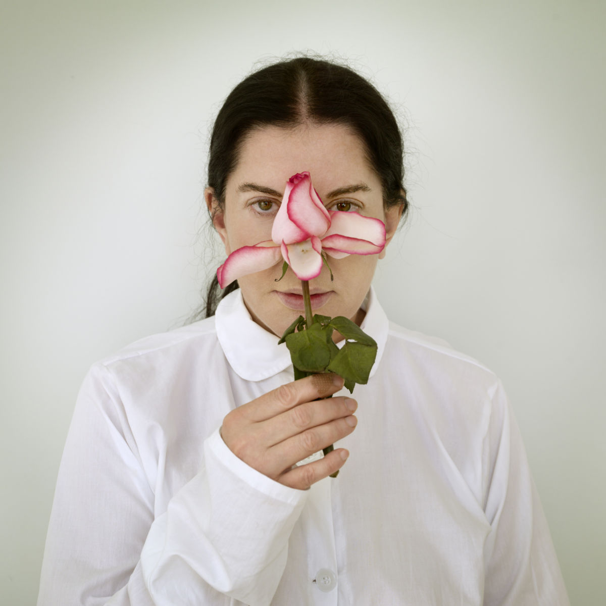 ArtInternational2014-Marina Abramović - Artist Portrait with a Rose, 2013