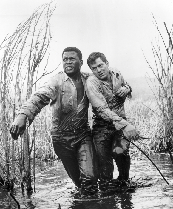 The Defiant Ones (1958) Directed by Stanley Kramer Shown from left: Sidney Poitier, Tony Curtis