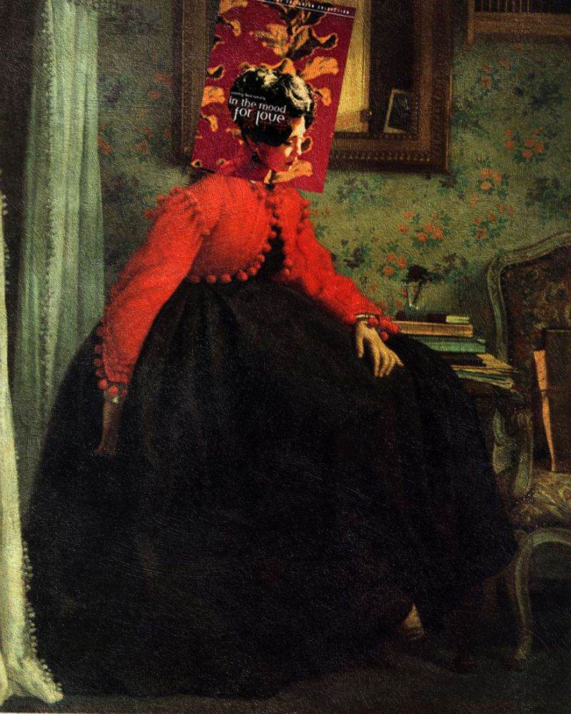 """""""In the Mood for Love"""" Wong Kar-Wai ve""""Portrait of Mlle. L.L. (Young Lady in a Red Jacket)"""" James Tissot"""