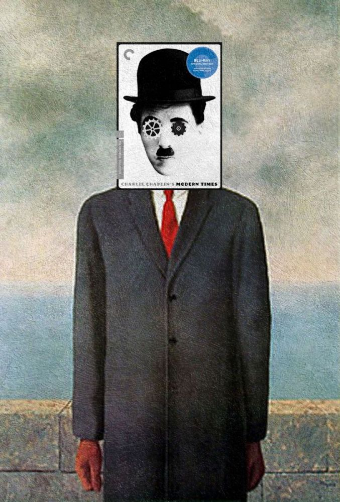"""Modern Times"" Charlie Chaplin ve ""The Son of Man"" René Magritte"