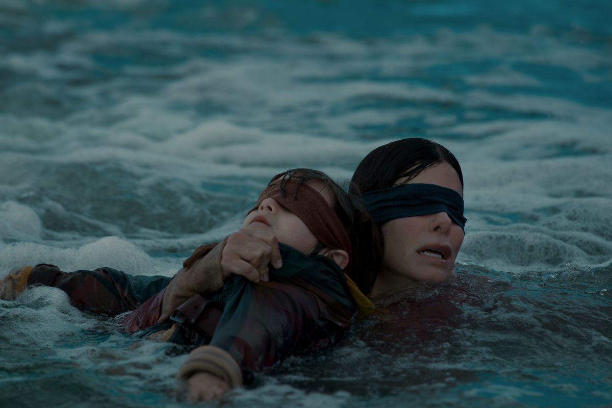sandra bullock, review film bird box