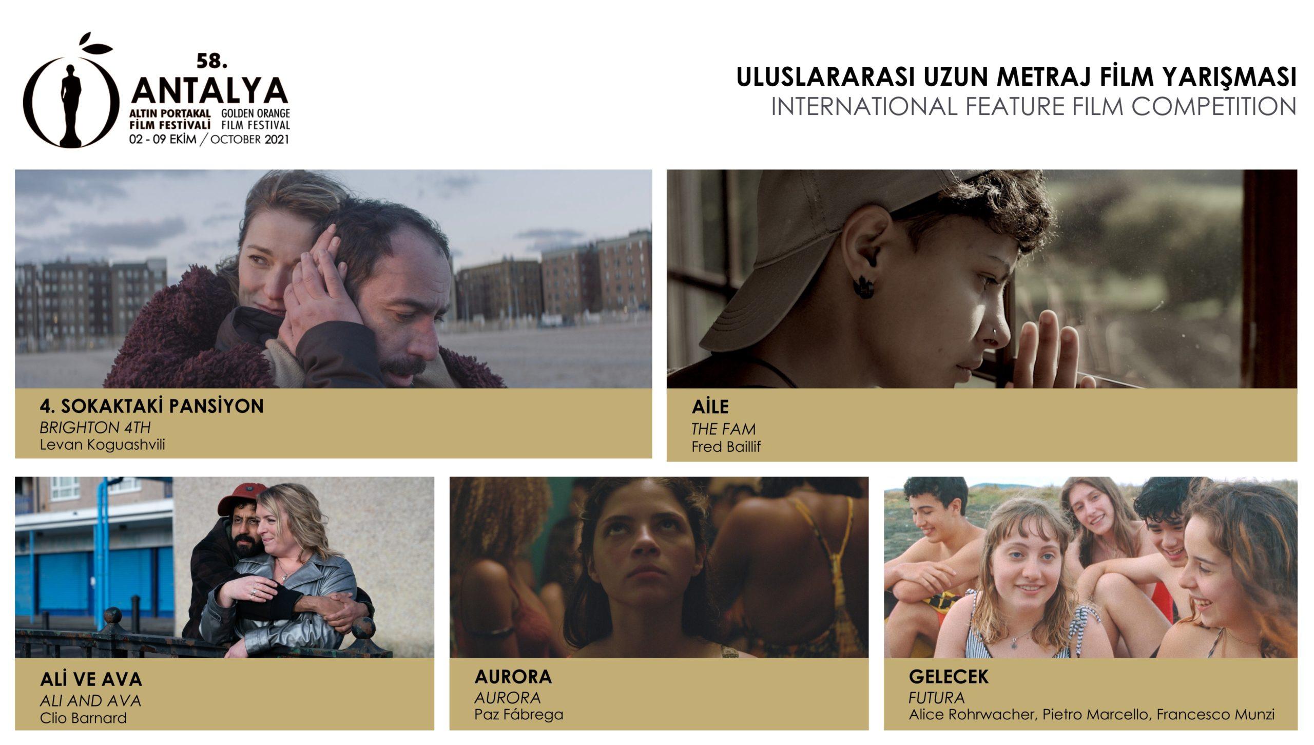 58 Antalya Altın Portakal Film Festivali Uluslararası Uzun Metraj Film Yarışması fil'm hafızası